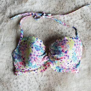 Victoria's Secret floral bikini top